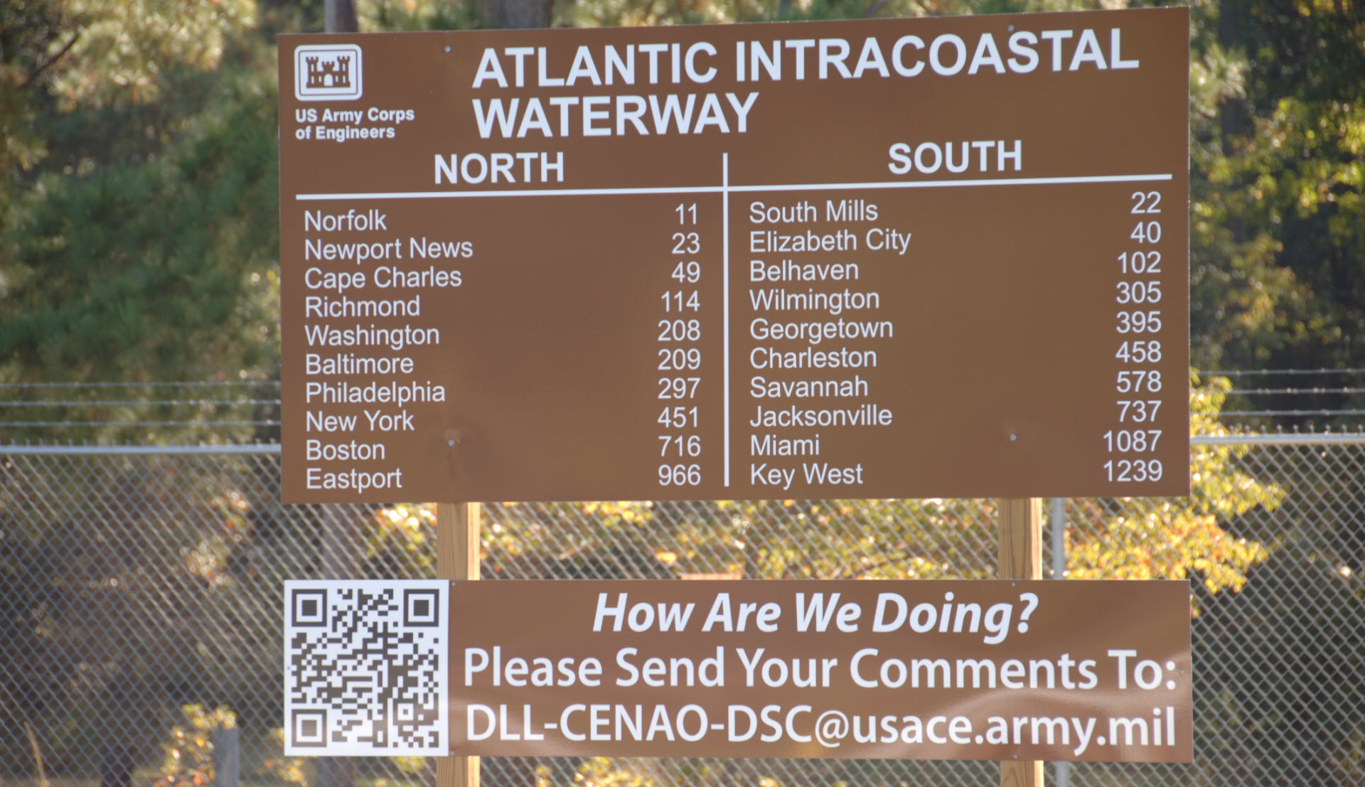Sign on the Atlantic ICW