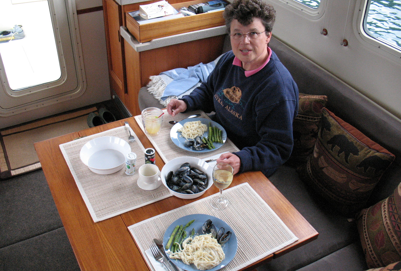 dinner on board your boat