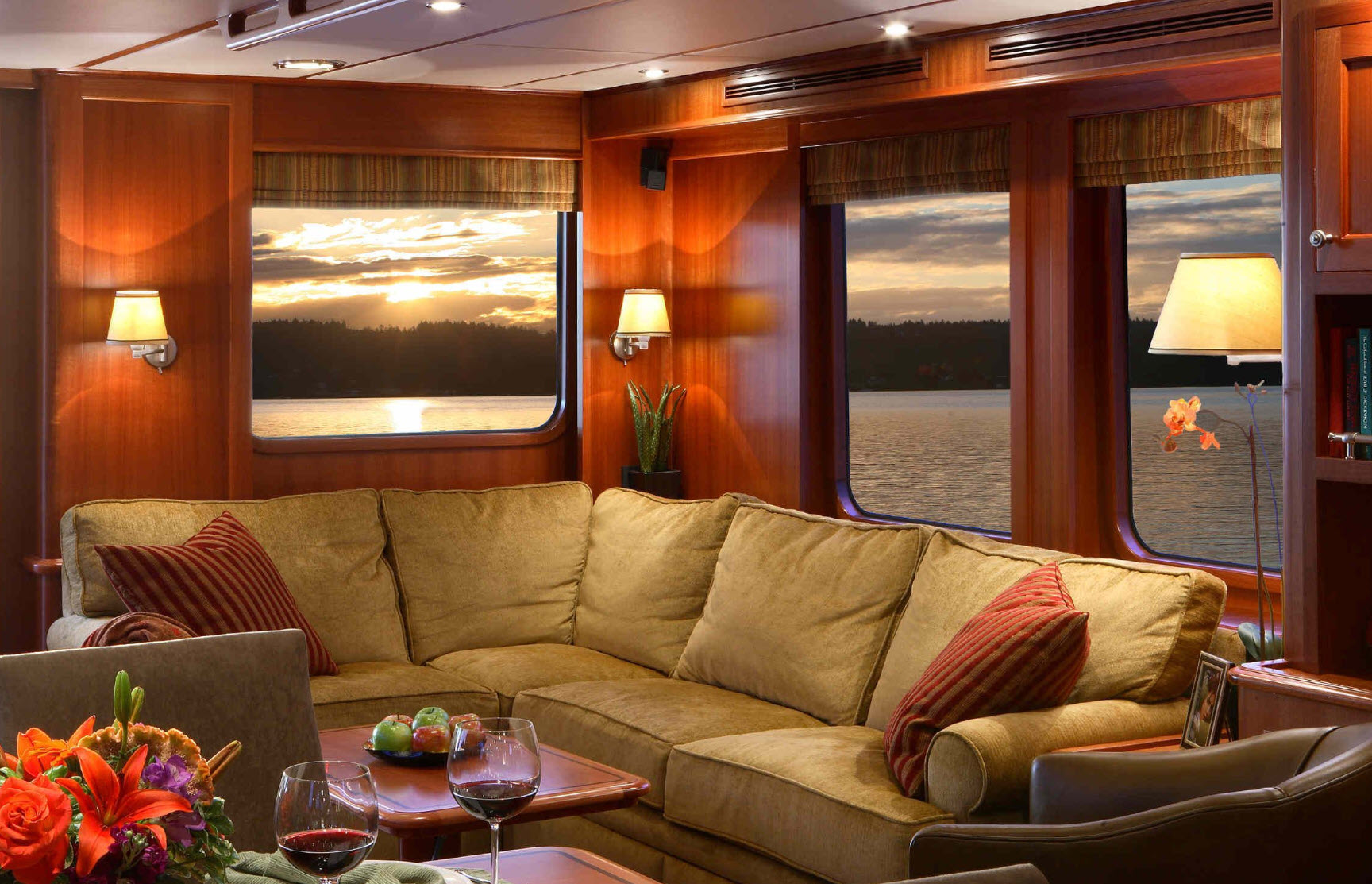 interior of a northern marine yacht