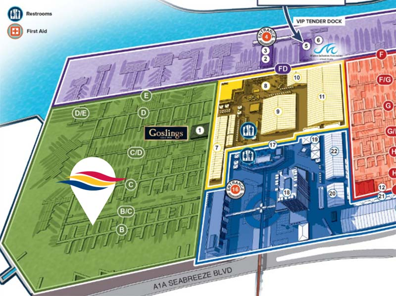 map of fort lauderdale boat show