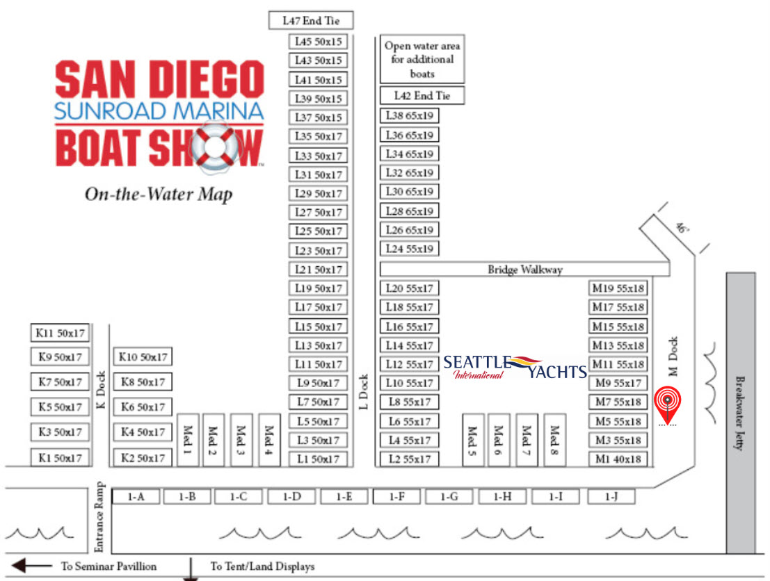 map of san diego boat show