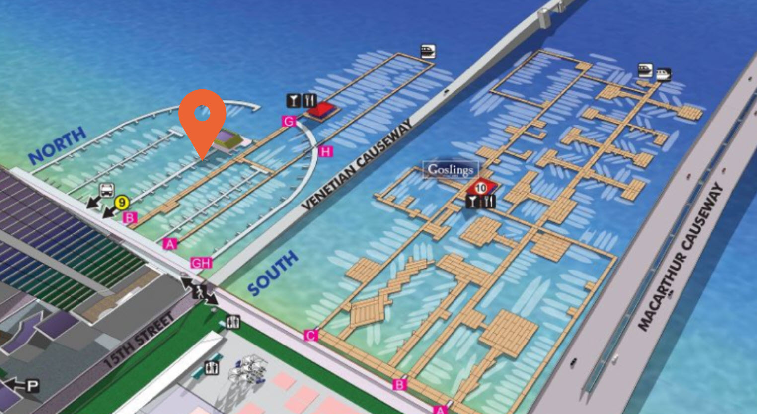 map of miami yacht show