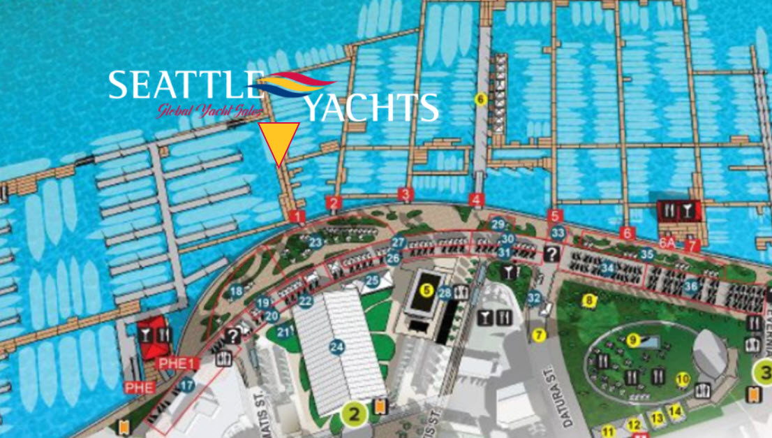 Map of Palm Beach Boat Show