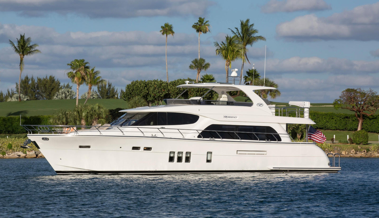 Regency motor yacht at boats afloat show