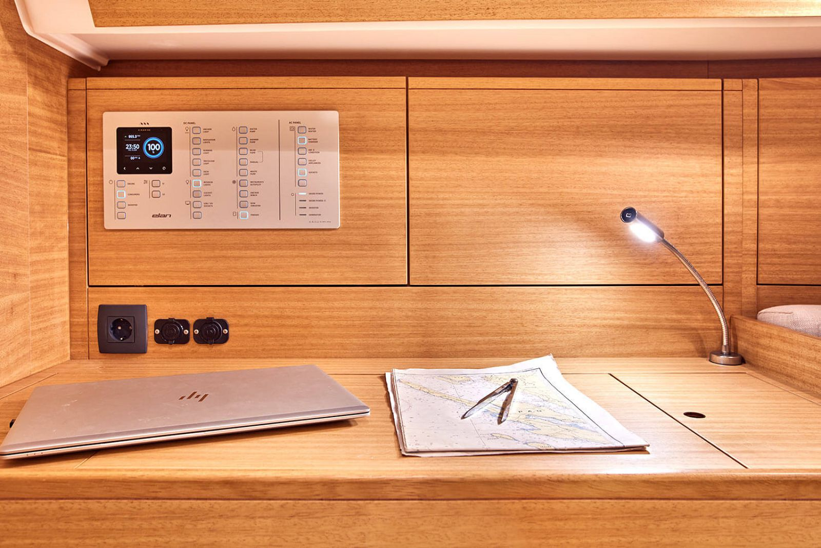 desk on the elan yachts impression 45.1