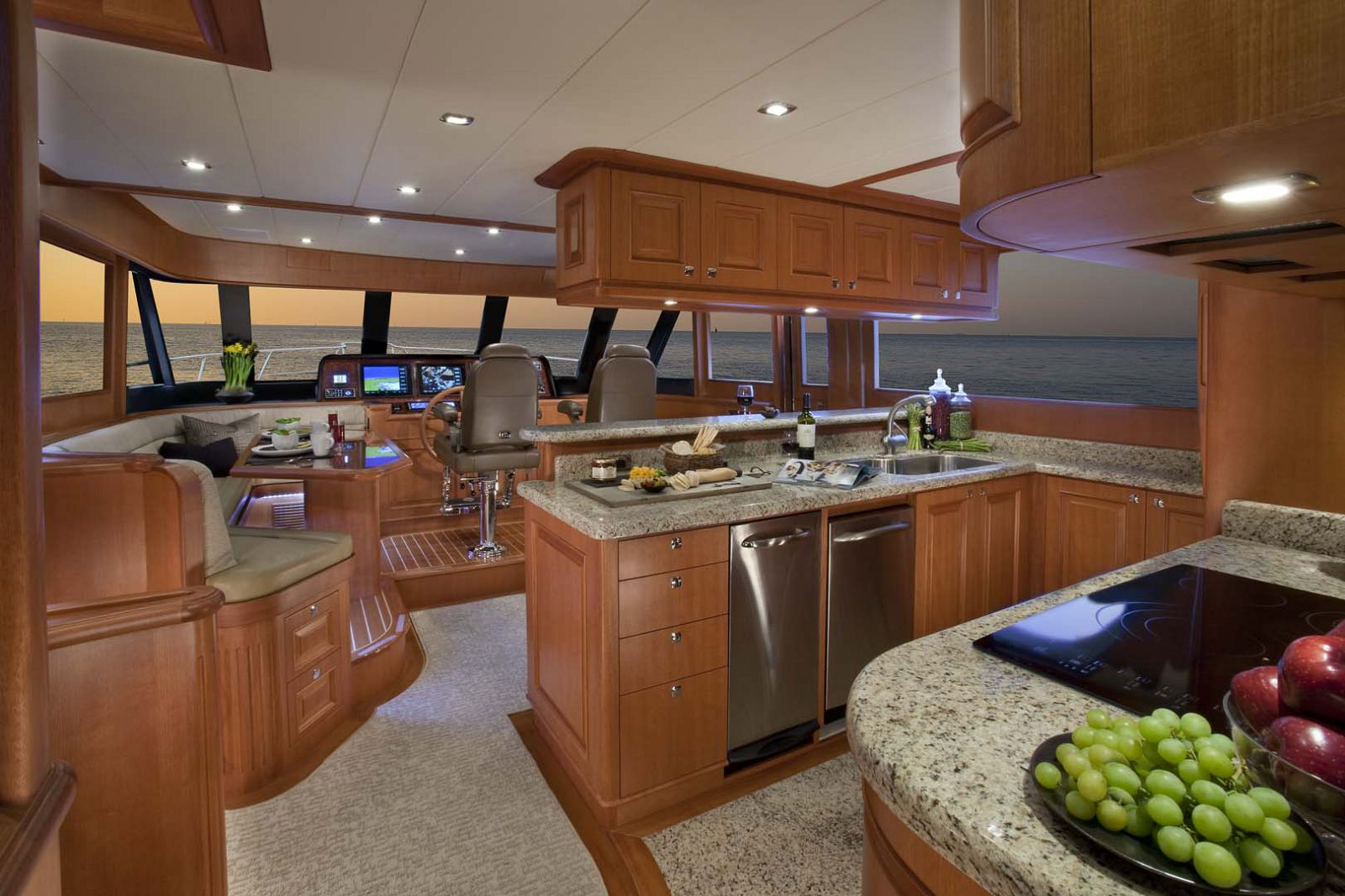 country kitchen on hampton endurance yacht 658