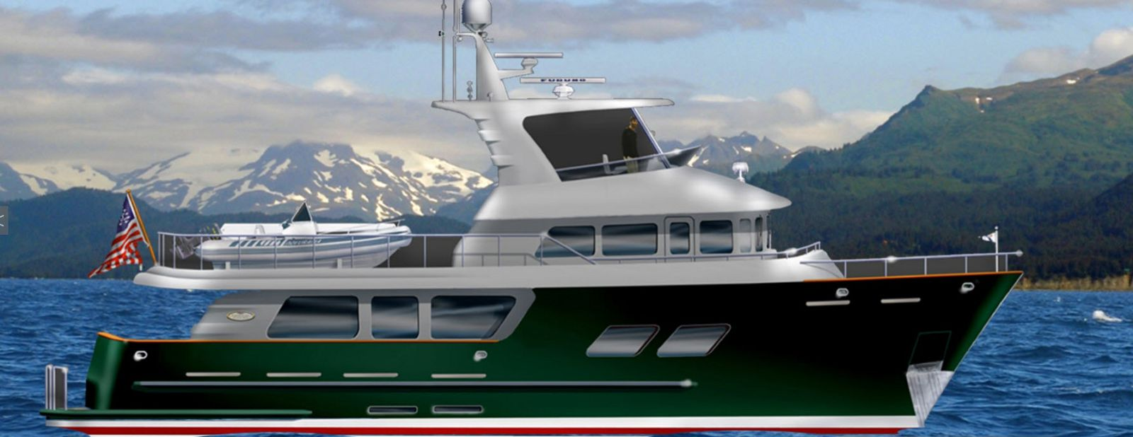 northern marine 70 expedition yacht rendering