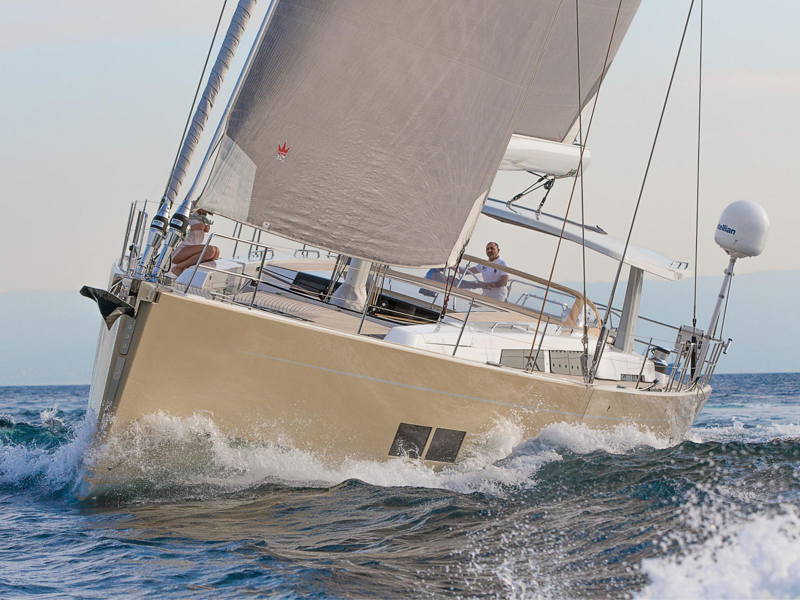 Hanse 675 with beautiful lines