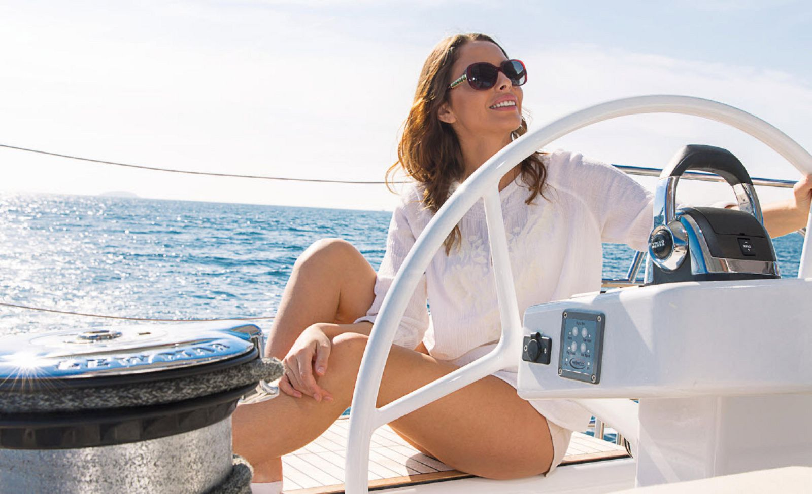 Woman navigating the Hanse 675