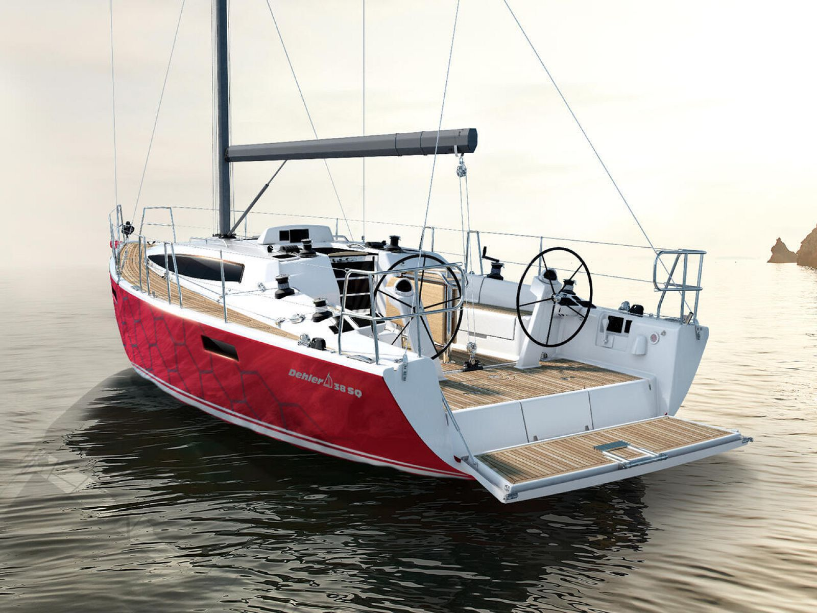 Transom of Dehler 38SQ