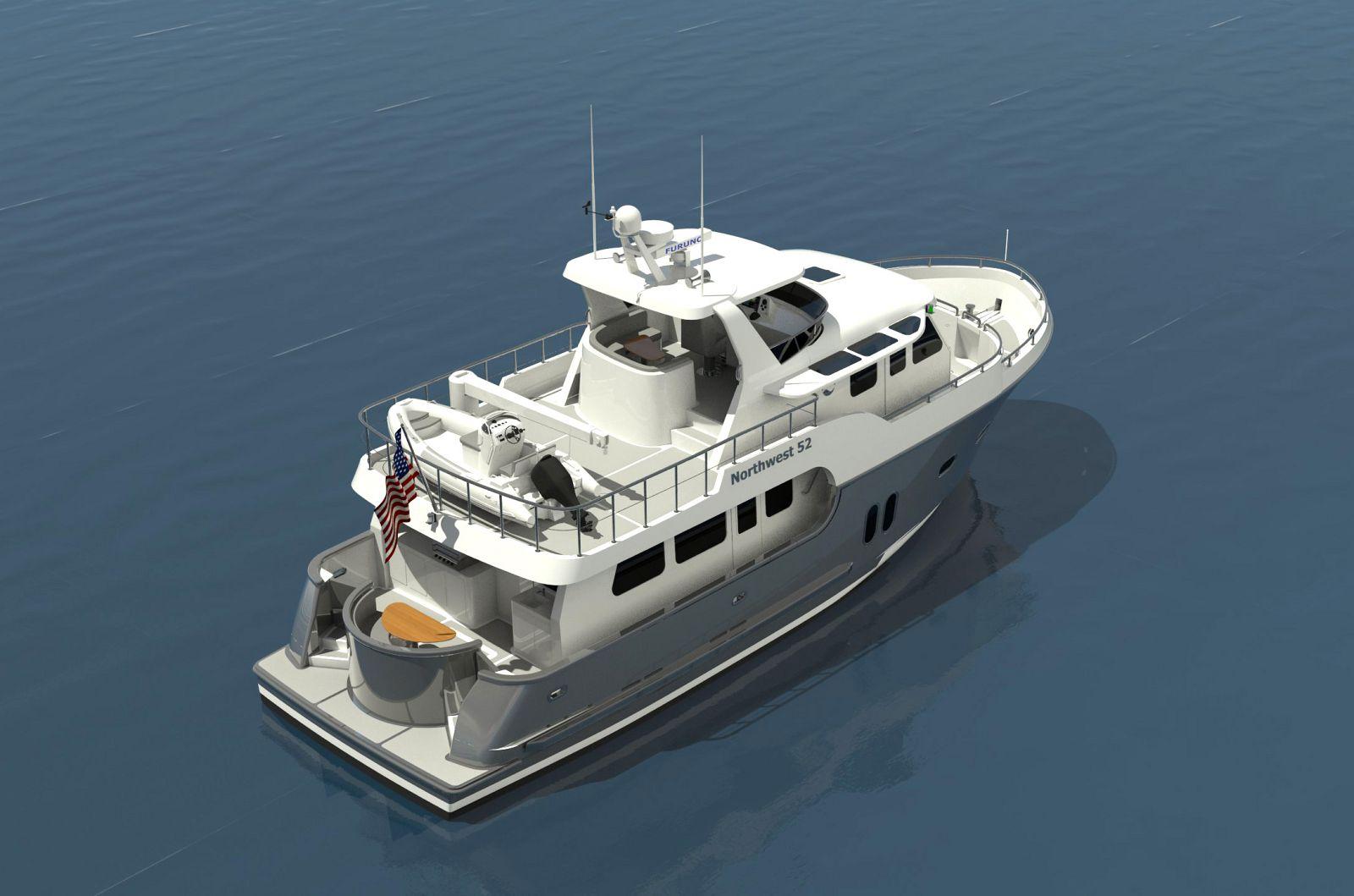 Northwest-Yachts 52-Trawler-Birdseye-View