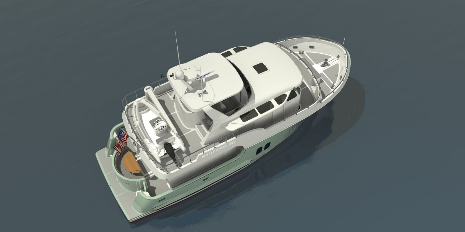 Northwest-Yachts-48-Trawler-Birdseye-Rendering