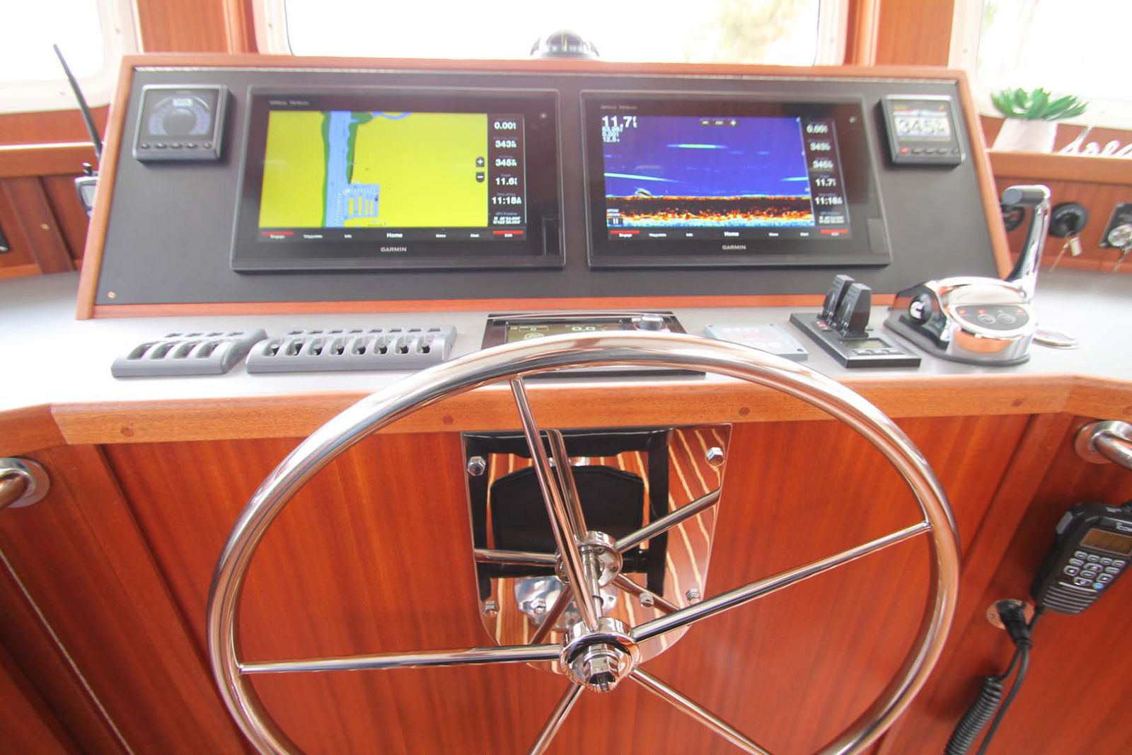 helm console with electronics
