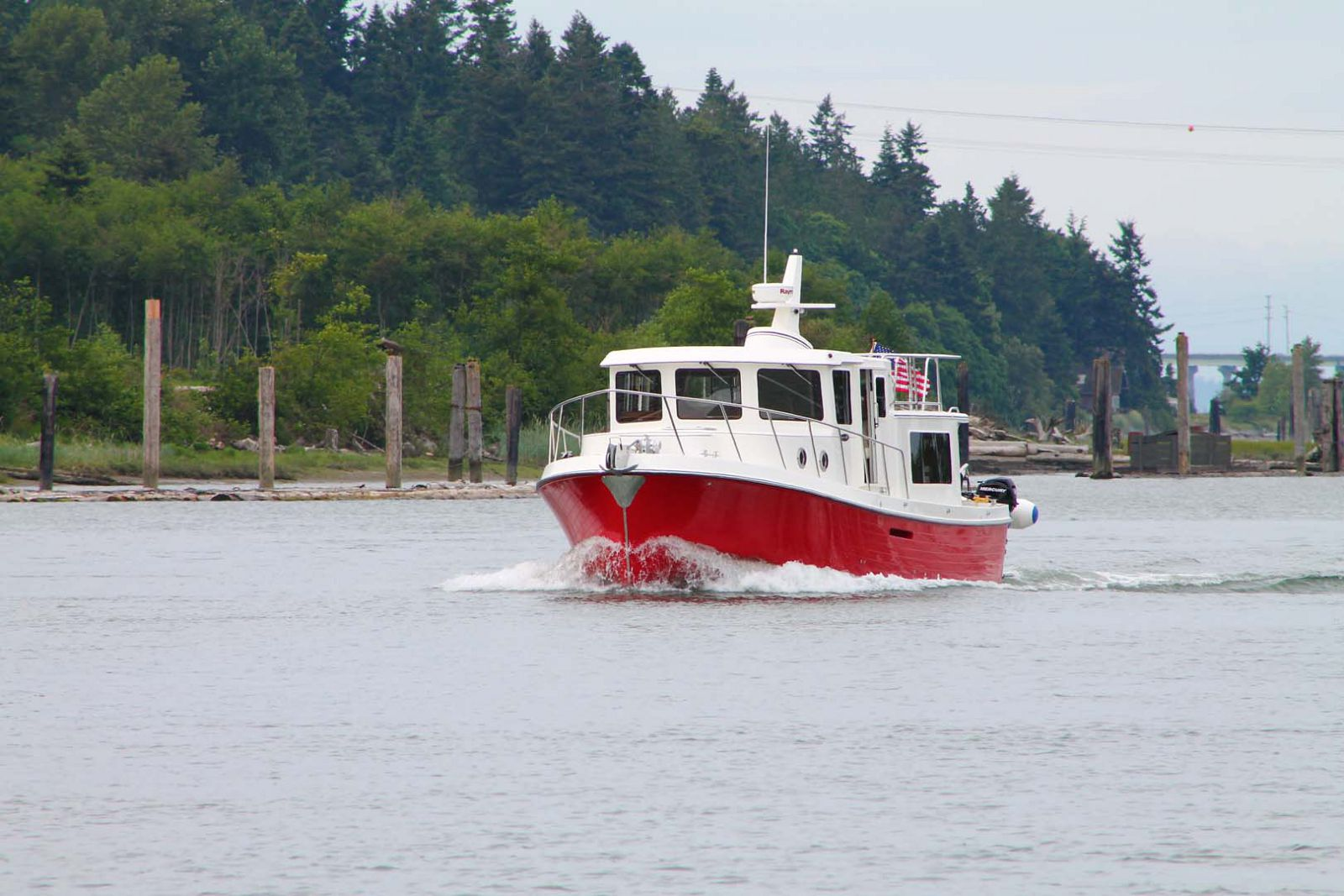 american tug 365 red hull