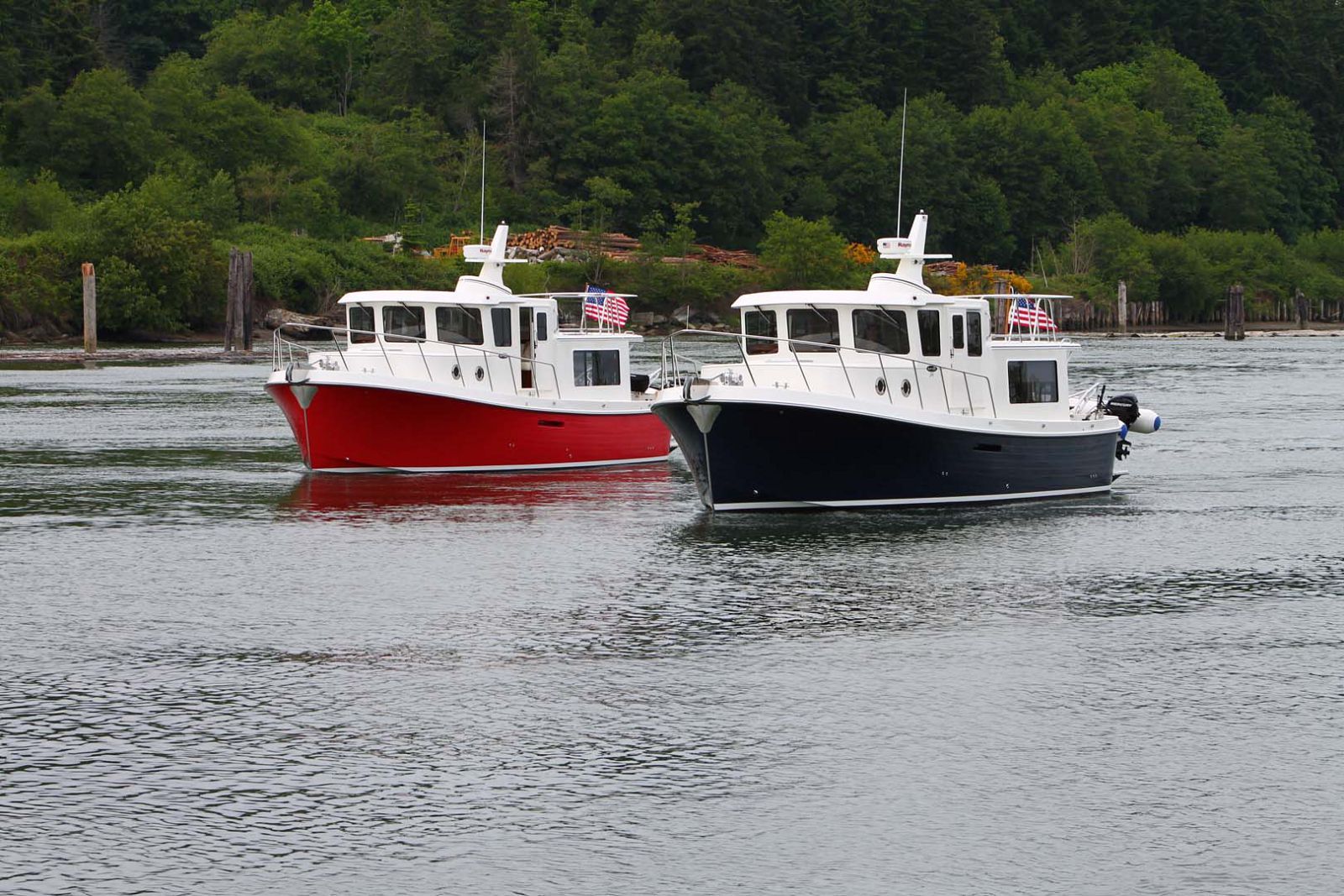 american tug 365 sisterships side by side