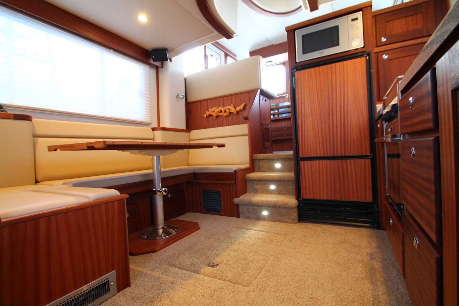 dining area on american tug 365