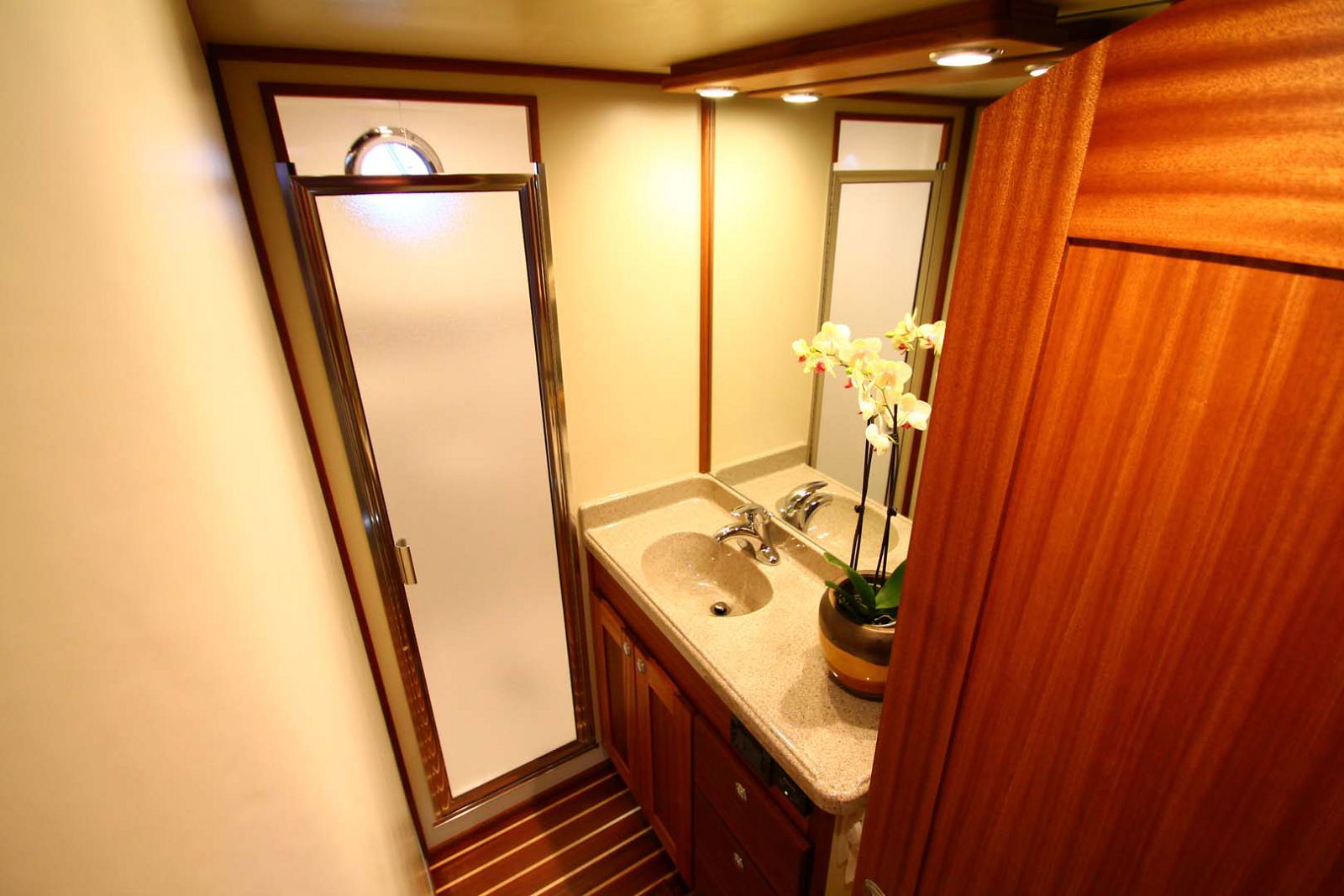 bathroom sink on american tug 365