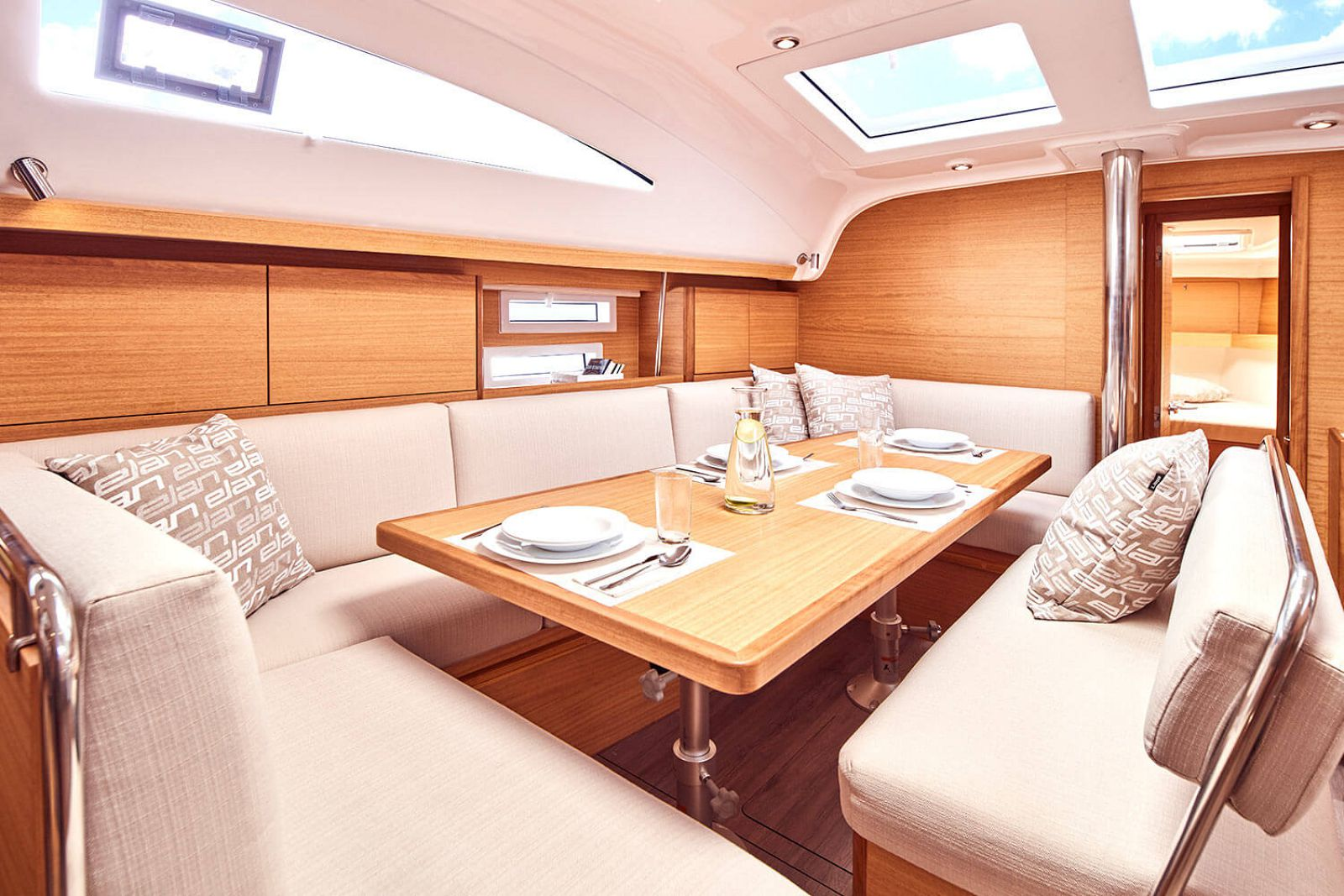 dining table on the elan yachts 45.1