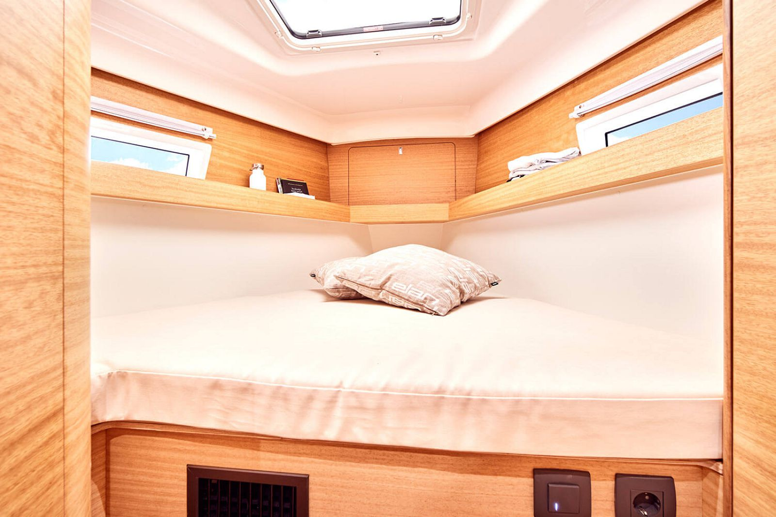 bedroom on the elan yachts impression 45.1